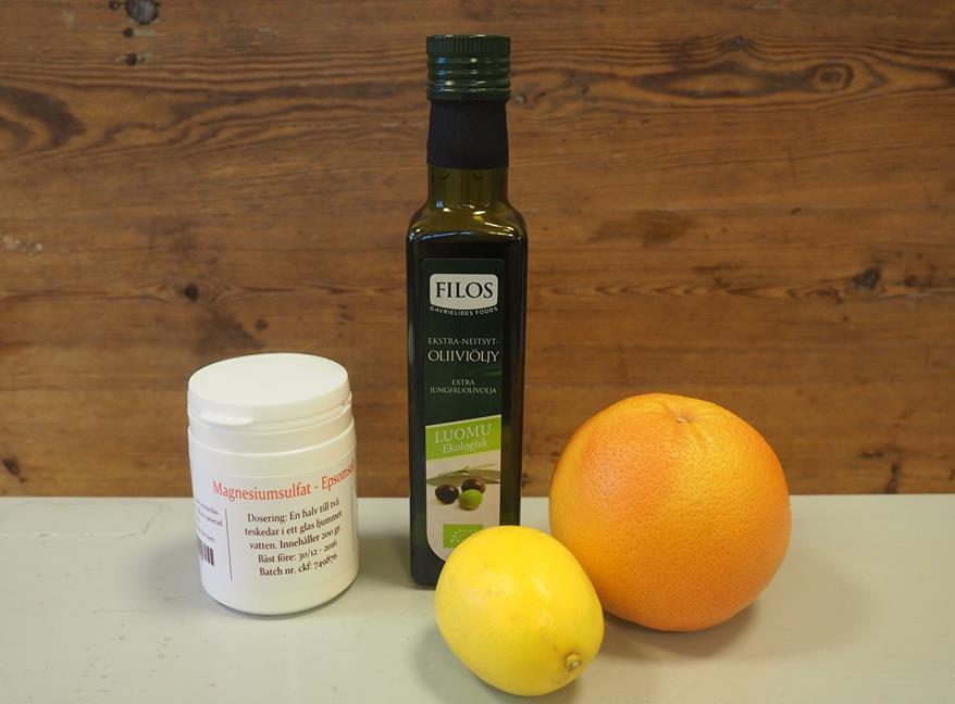 leverrening citron olivolja